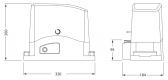 KEY Turbo 120 (900-SC122) - pohon pre posuvnú bránu do 1200kg