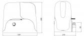 KEY Sun 110 NLS (SUN11024) - pohon pre posuvnú bránu do 1100kg