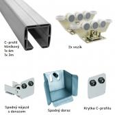 Hliníková sada kombinovaná pre výrobu samonosnej posuvnej brány do 6,5m