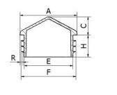 Záslepka štvorcová so strieškou