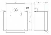 Dojazdová kapsa - spodný doraz 140×140×6mm