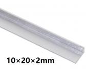 Hliníkový L profil 10x20x2mm