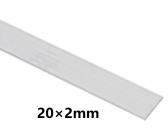 Hliníkový profil plochý 20x2mm