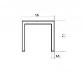 Hliníkový U profil 10x10x1,5mm