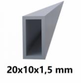 Hliníkový jokel obdĺžnikový 20x10x1,5mm