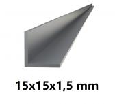 Hliníkový L profil 15x15x1,5mm-6metrový