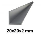 Hliníkový L profil 20x20x2mm-6metrový