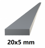 Hliníkový profil plochý 20x5mm