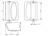 Nerezové madlo dverové 93x65mm