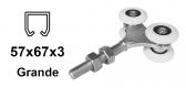 Vozík pre závesnú bránu 4 rolky pre profil 57×67×3 nylonový