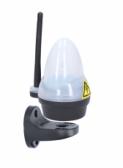 Biele výstražné LED svetlo s anténou 12/24/230V - HFL6W