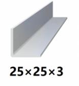 Oceľová tyč tvaru L 25x25x3 (L-profil), bez povrchovej úpravy