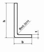 Oceľová tyč tvaru L 40x40x3 (L-profil), bez povrchovej úpravy