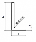 Oceľová tyč tvaru L 50x50x4 (L-profil), bez povrchovej úpravy