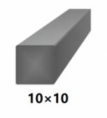 Hranatá štvorcová plná oceľová tyč 10x10 mm (štvorhran), bez povrchovej úpravy