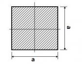 Hranatá štvorcová plná oceľová tyč 20x20 mm (štvorhran), bez povrchovej úpravy