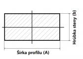 Plochá plná oceľová tyč 12x6 mm (pásovina), bez povrchovej úpravy