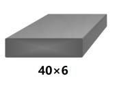 Plochá plná oceľová tyč 40x6 mm (pásovina), bez povrchovej úpravy