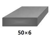 Plochá plná oceľová tyč 50x6 mm (pásovina), bez povrchovej úpravy