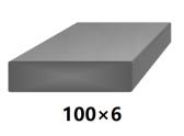 Plochá plná oceľová tyč 100x6 mm (pásovina), bez povrchovej úpravy