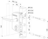 LOCINOX LAKQ 4040 zámok s práškovo lakovaným hlíníkovým telom a nerezovým mechanizmom pre profil 40x40