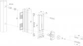 LOCINOX SHKL QF nerezový protikus zámku, bezpečnostný, patentovaný