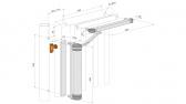 LOCINOX LION-ZILV hydraulický samozatvárač