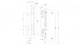 LOCINOX FORTYLOCK nerezový zámok, rozteč 92 mm, zápusť 20 mm