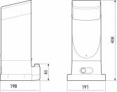 Sada pohonu pre posuvnú bránu do 400kg/6m  NICE Slight SLH400 (B)