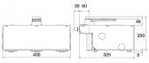 NICE L-Fab LFAB4024 - samostatný podzemný pohon pre krídlovú bránu do krídla 4m/650kg