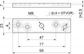 Montážna lišta pre vozík závesnej brány, závit M8