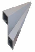 Hliníková plotová lamela 115,2x24,4 mm, tvar žalúzia, hrúbka 2 mm, dĺžka 6 m