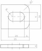 Naváracia kotva pre plotové výplne, 35x30x4 mm