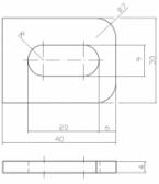 Naváracia kotva pre plotové výplne, 40x30x4 mm