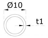 Nerezová trubka 10x1mm, kartáčovaná nerez