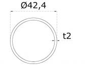 Nerezová trubka 42,4x2mm, brúsená nerez