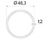 Nerezová trubka 48,3x2mm, brúsená nerez