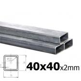 Sada joklových profilov pre výrobu posuvnej brány 40x40x2 mm