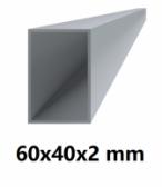 Hliníkový jokel obdĺžnikový 60x40x2 mm