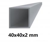 Hliníkový jokel štvorcový 40x40x2 mm