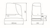Sada rýchleho pohonu pre posuvnú bránu do 400 kg - NICE RUN400 HS (E)