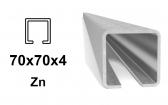 C-Profil 70x70x4 mm, Zn - žiarovo pozinkovaný