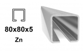 C-Profil 80x80x5 mm, Zn - žiarovo pozinkovaný