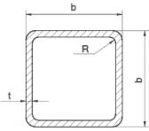Joklový profil 60x60x2, čierny