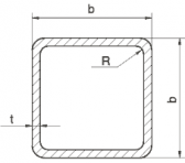 Joklový profil 60x60x2
