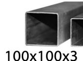 Joklový profil 100x100x3,čierny