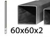 FE stĺpik holý na priame zabetónovanie, 60x60x2mm