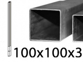 FE stĺpik holý na priame zabetónovanie, 100x100x3mm