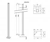 Zinkovaný stĺpik bez držiakov 40x40 s podstavou