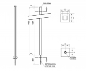 Zinkovaný stĺpik bez držiakov 40x40 s roxorom